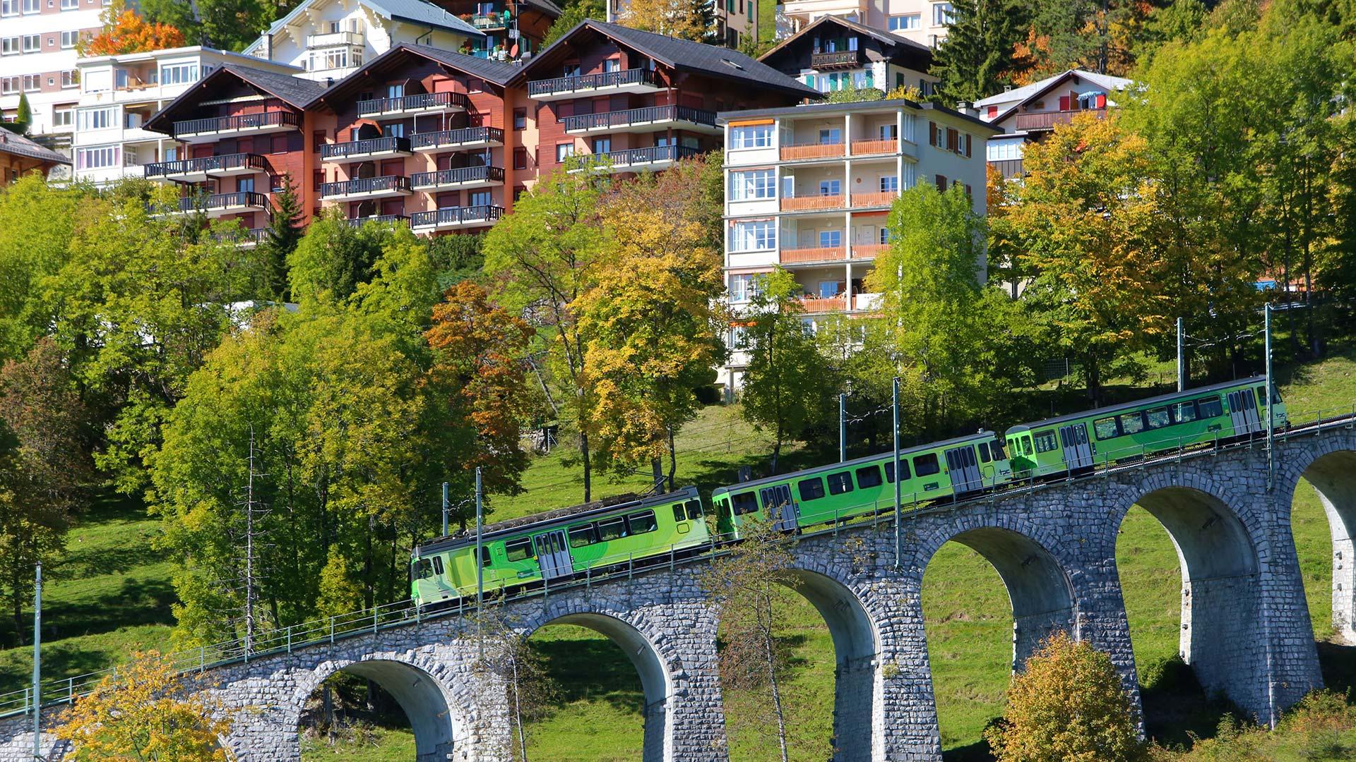 Leysin-Ete-Train-Aigle-Leysin-Maisons